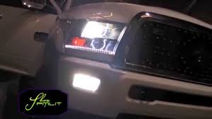 2011 dodge ram headlight replacement oracle 2011 dodge ram longhorn 2500 blue white led lights by
