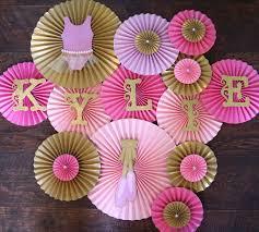 ballerina baby shower decorations ballerina theme paper rosettes for tutu themed baby shower