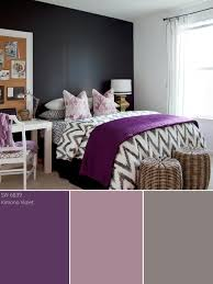 Black And White And Pink Bedroom Purple Color Palette Purple Color Schemes Hgtv