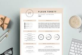 fashion resume templates feminine resume template jolié resume templates creative market
