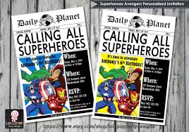 avenger birthday invitations ajordanscart com