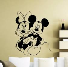 more stickers promotion shop for promotional more stickers on mickey mouse wall sticker cartoon minnie poster vinyl decal home kids girl nursery room interior decoration removable mural