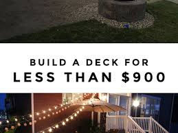 home depot to build a simple diy deck on a budget best deck