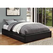 amazon com espresso queen mate u0027s platform storage bed with 6