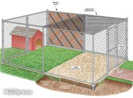 Dog Crate With Bathroom by How To Build A Chain Link Kennel For Your Dog Backyard Chains