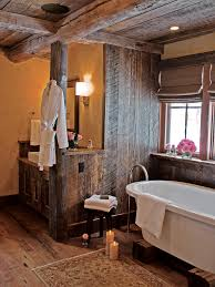 amazing tuscan bathroom decor for small space with vintage bathtub