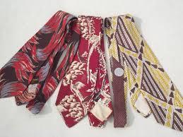 neckties 40s 50s 60s 70s retro neck ties lot wide ties