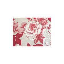 Rideaux Toile De Jouy Toile De Jouy En Coton Imprimé 280cm Avec Roses Rouges