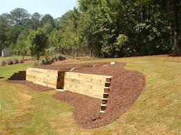 Cedar Landscape Timbers by Timber Retaining Wall Designs Withal Cedar Wood Retaining Wall