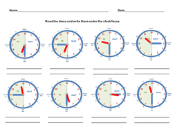 telling the time worksheets teaching clock images by jodyo