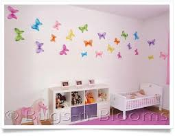 Butterfly House Decorations decorate a girls bedroom kids wall