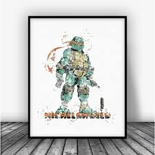 teenage mutant ninja turtles michelangelo 2 art print poster