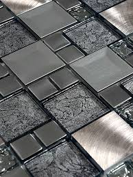 Glass Metal Gray Copper Mosaic Backsplash Tile Backsplashcom - Glass and metal tile backsplash