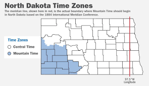 Is Time Zone Map by Legislation Would Cancel Daylight Saving Time In North Dakota