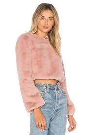 fur sweater faux fur sweater in cerulean rosehip