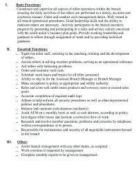 Resume For Bank Teller Objective Bank Teller Duties Lukex Co