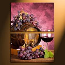 Grapes And Wine Home Decor 2 Canvas Photography Wine Canvas Print Grapes Large