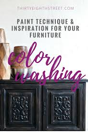 how to update your furniture with a paint color wash thirty