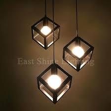 Diy Pendant Light Fixture Diy Hanging Light Parts Modern Geometry Box Pendant Lights For