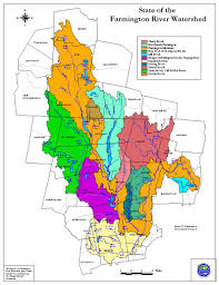 Map Of Ct Towns Farmington River Watershed Maps