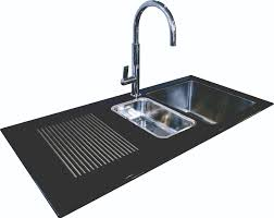 Kitchen Sink Black Reflection 1 5 Bowl Inset Black Glass Sink Northern Sink Supplies