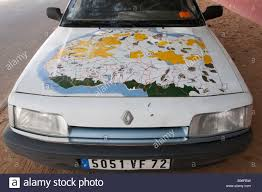 Map Of Western Africa by West Africa Mauritania Nouakchott Map Of West Africa Painted On A