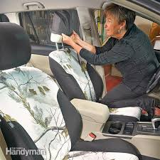 How To Sew Car Upholstery Spruce Up Your Car How To Install Seat Covers Family Handyman