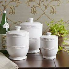 White Kitchen Canister Decorative Kitchen Canisters Ebay