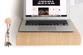 wall desk for macbook in wood nordic appeal