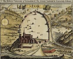 Athens Map Map Of Athens 1680