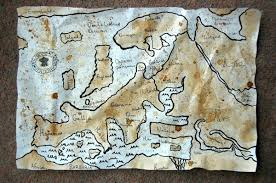 Ancient Map Ancient Map Colored With Coffe