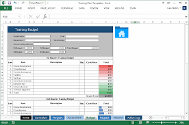 training plan template 20 page word u0026 14 excel forms