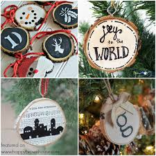 40 creative wood slice ornaments happy brown house