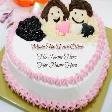 Wedding Anniversary Cakes Write Name On Wedding Anniversary Cake Online