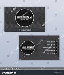 modern creative black white business card stock vector 256783999