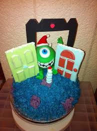 a monsters inc cake i made for a friends little boy monsters