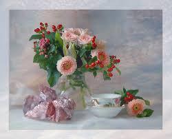Cool Cup Flowers Beautiful Elegantly Harmony Flowers Bouquet Nice Jug