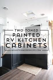 Wall Of Cabinets In Kitchen Painted Rv Kitchen Cabinets Mountainmodernlife Com