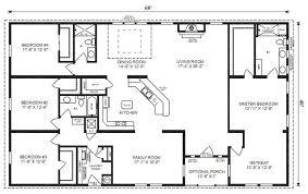 impressive design small 4 bedroom ranch house plans 1 bedroom free