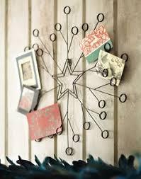 christmas card holder tag metal spiral wreath greeting card holder