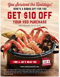 coupons for joe s crab shack joe s crab shack printable coupon get 10 50 or more my