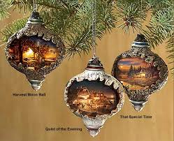 terry redlin s unique lighted ornaments country