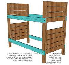 Free Bunk Bed Plans 2x4 by Ana White Side Street Bunk Beds Diy Projects