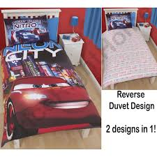 disney cars duvet cover sets in single double and junior sizes