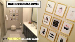 bathroom makeover diy fashion gallery wall art dollar tree