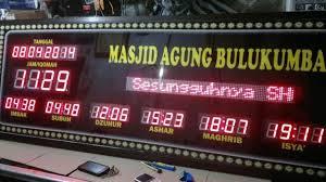 membuat jam digital led besar daftar harga jam digital masjid jadwal sholat abadi besar harga