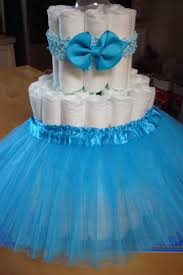 ballerina tutu diaper cake kit tiffany themed baby shower new