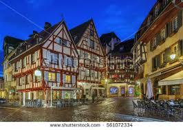Colmar France Picturesque Square Alsatian City Colmar France Stock Photo
