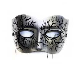 masquerade mask men masks by success creations volt silver painted