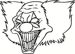 scary clowns coloring pages coloring